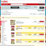 50% off Freedom Foods Cereals, Gluten Free Weet-Bix, 40% off Sirena Tuna 95g 2-for-$3 @ Coles