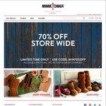 70% off Storewide with Coupon at Minnetonka Moccasins + Postage @Minnetonka Moccasin Australia
