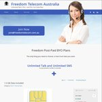 $25 Unlimited Talk and SMS PLUS 1.5GB Data Per Month on 24 Month with Freedom Telecom Australia