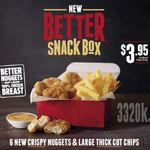 6 Chicken Nuggets and Large Chips for $3.95 @ Hungry Jack's