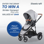 Win A Steelcraft Strider Compact Deluxe Edition Stroller RRP $849 from Britax