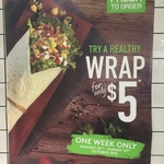 $5 Wrap Week @ Sumo Salad, Airport West, Melbourne (Normally $8.95)