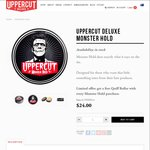 Free Quiff Roller Brush (Worth $12) with Every Tin of Monster Hold - $24 Posted @ Uppercut Deluxe
