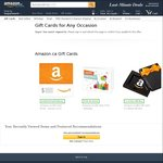 $10 Account Credit with The Purchase of $50 Gift Card @ Amazon CA