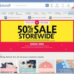 Lincraft 50% off Everything in Store and Online