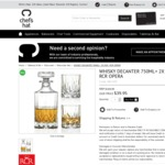 RCR Whisky Decanter 750ml Plus 2X DOF $39.95 (RRP $169.95) + Shipping @ Chef's Hat