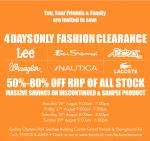 NSW 4 Days Only Fashion Clearance