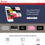 Bonus $10 Gift Card with Any $100 Gift Card Purchase Made with Apple Pay on Prezzee - Coles, eWish +more