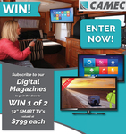 "Win 1 of 2 Camec RV Media 32"" Smart TVs Worth $799 from Parable Productions"