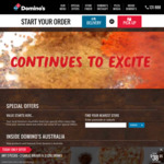 Free Upgrade to Cheesy Crust @ Domino's (Excludes Value Range)