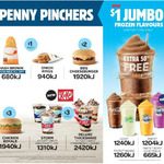 Hungry Jacks NEW Penny Pinchers Menu: $1 JUMBO Frozen Drinks, $3 Storms & $3 Deluxe Thickshake (Starts 24th Oct)