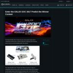 Win a GALAX GTX 1080Ti OC Lab Edition Graphics Card or 1 of 2 Minor Prizes from GALAX