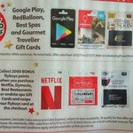 2000 Flybuys Points (Worth $10) with Netflix, Dymocks Gift Cards etc. | 20% off Google Play, Red Balloon etc. @ Coles