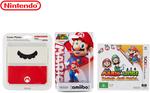 Mario & Luigi Paper Jam Bros 3DS + Super Mario Amiibo + Mario Faceplate $26.70 + Postage @ Catch