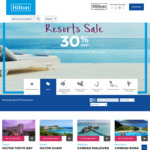 Up to 30% off Hilton Asia Pacific - Hhonors Membership Required