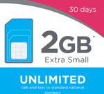 Unlimited Local Calls/Text/MMS + 2GB* Extra Small Plan (30 Day SIM) for $9.90 @ Lebara Mobile