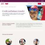 2.99% for 12 Months Balance Transfer to an Existing Westpac Card