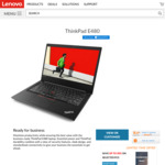 "ThinkPad E480 $1085 Delivered (14"" FHD, i7-8550U, 8GB DDR4, 256GB SSD, RX550 Gfx) from Lenovo"