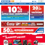 20% off Selected Electrolux, Miele, Vax & Volta Vacuums @ The Good Guys