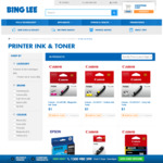 Selected Models of Canon and Epson Ink Cartridge Starts from $1 (Was $19- $82) @ Bing Lee & eBay Bing Lee