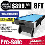 [Pre-Order] 8ft MDF Pool Table $379.99 (Free Metro Delivery for Syd, Mel, Bris, Adel) @ TR Sports eBay
