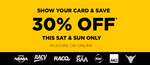 30% off Instore and Online for Auto Club Members @ Repco