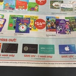 10% off Event/Village Cinema, Restaurant Choice and Spa Finder Gift Card   15% off  iTunes Gift Card (Various Week) @ Auspost