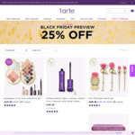 Black Friday Preview Sale: Tarte Cosmetics 25% off