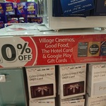 10% off Village Cinemas, Good Food, The Hotel Card & Google Play Gift Cards @ Coles