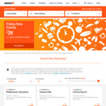 Jetstar Friday Frenzy: Sydney to Melbourne Avalon $29, Melbourne to Christchurch $208 Return (February)