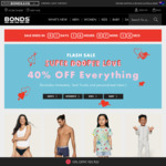 40% off Sitewide + Free Shipping Over $49 Spend @ Bonds