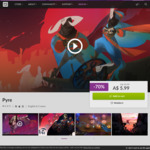 [PC] DRM-free - Pyre (90% positive on Steam) - $5.99 AUD - GOG