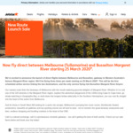[VIC, WA] Jetstar Melbourne (Tullamarine) ⇄ Busselton (Margaret River) $89 One Way ($75 Club Jetstar)