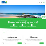 2 Years Membership for $35 @ Big 4 Holiday Parks