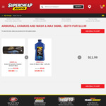Armor All Synthetic Chamois & Armor All Wash & Wax 500ml Both $11.99, Turtle Wax Shine Kit $30 (Was $56) @ Supercheap Auto