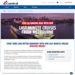 [VIC] Last Minute Cruise to Pacific Islands (Feb 10) in Balcony Room, 12 Nights for $1099pp (Twin Room) @ Carnival Cruises