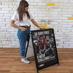 $99 (Was $149) 600x 900mm A Frame Pavement Sign with 2x 5mm InterChangeable Printed Corflute Inserts @ Easy Print and Sign Co