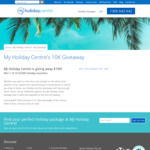 Win 1 of 10 $1,000 My Holiday Centre Vouchers from Ignite Holidays