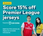 15% off Premier League Jerseys + Free Shipping over $150 @ Optus Perks