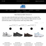 New Balance 624 V4 $59.95 (Save $70) + Shipping (from $9.95) or Free C+C @ Jim Kidd Sports