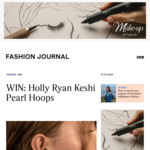 Win a Pair of Holly Ryan Keshi Pearl Hoops Earrings worth $440 from Fashion Journal