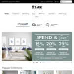 Up to 25% off Homewares @ Ozark Home