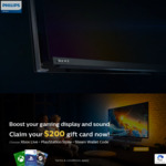 Claim $200 Steam / Xbox / PlayStation GiftCard with Purchase of Philips 55inch 558M1RY 120hz 4k Gaming Monitor @ Aust Retailers