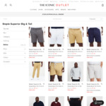 Big & Tall Large Size Chino Pants $5.20 + Shipping (Was $49.99) and More @ The Iconic