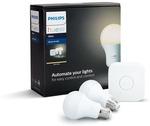 Philips Hue White E27 Starter Kit $69 + Delivery @ Kogan
