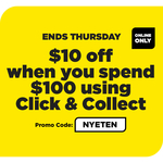 $10 off $100 Click & Collect @ Liquorland