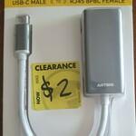 [QLD] Antsig USB-C to Ethernet Adaptor $2 @ Bunnings West Ipswich
