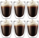 Bodum Pavina Double Wall Glasses 350ml Set of 6 $39 (Value $90) + Delivery or Free C&C @ Peter's of Kensington