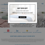 10% off Sitewide, Free Delivery @ LuxeBedding