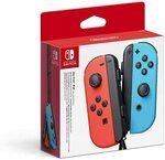 [Prime, Waitlist] Nintendo Switch Joy-Con Controller Pair (Neon Red/Blue) $79 Delivered @ Amazon AU